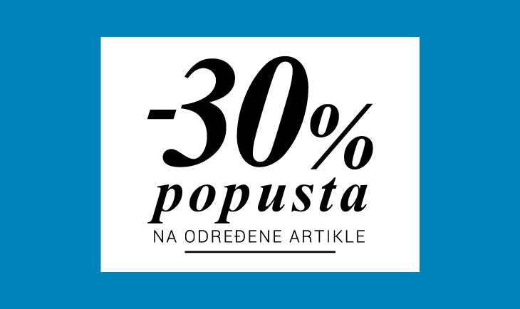 -30% na određene artikle