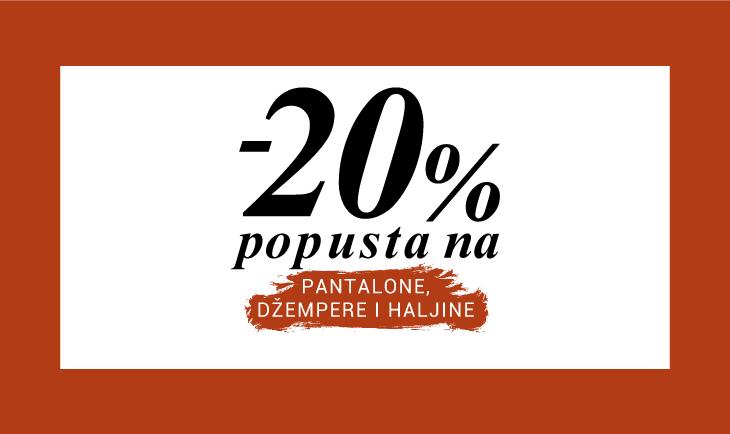 -20% na pantalone, jakne, džempere