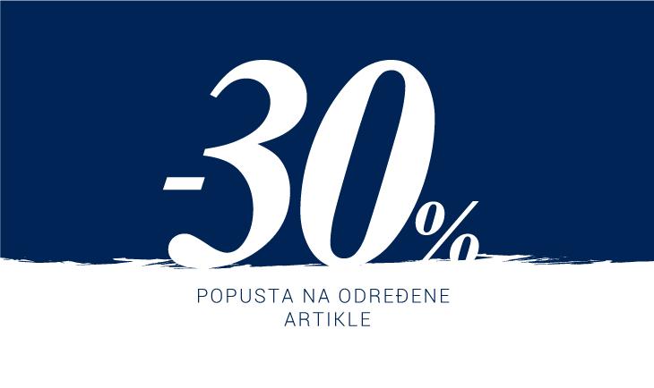 Produžetak akcije -30% SAMO NA WEB-u