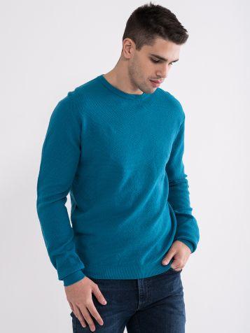Muški džemper u tirkiz boji