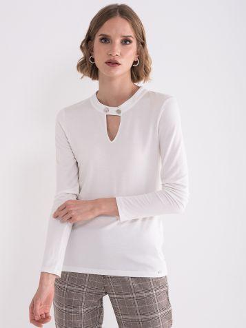 Bijela elegantna majica