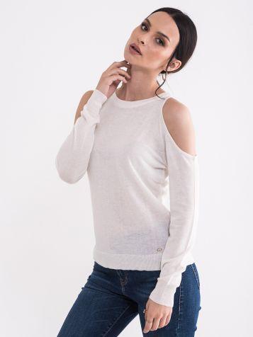 Džemper sa otvorenim ramenima