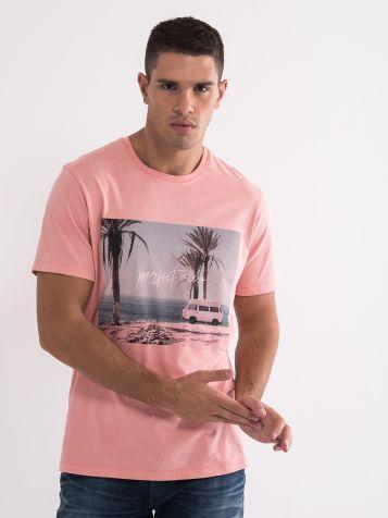 Roze muška majica