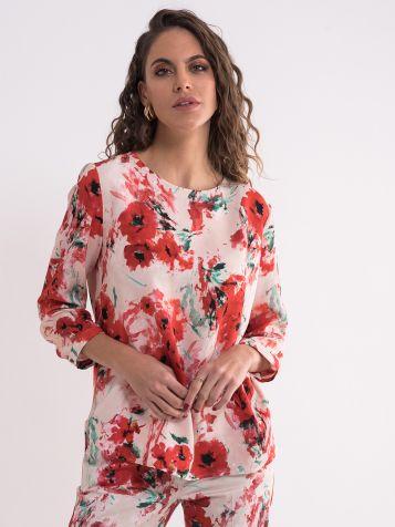 Bluza sa cvijetnim dezenom