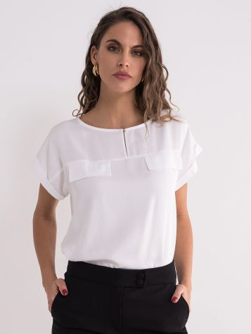 Bijela klasična bluza