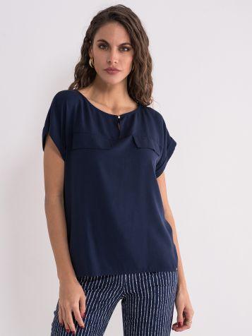 Teget klasična bluza