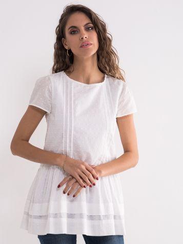 Romantična bijela bluza