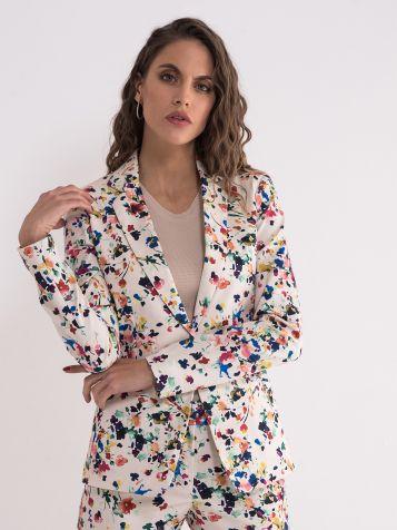 Ženski sako sa cvijetnim dezenom
