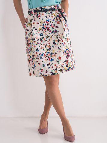 Suknja sa cvijetnim dezenom