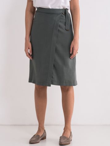 Ležerna zelena suknja