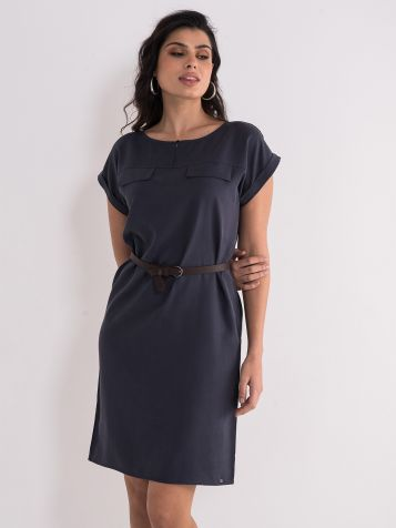 Casual asfalt plava haljina