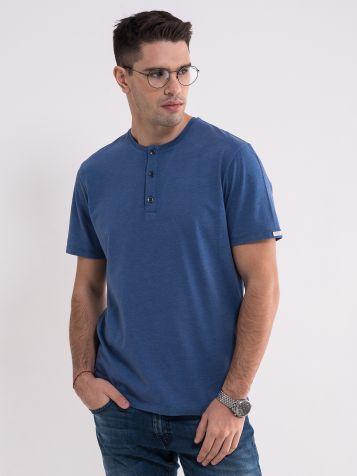 Plava majica sa dugmićima
