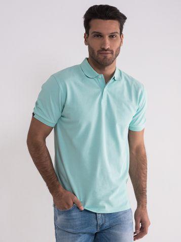svijetlo tirkiz majica sa kragnom