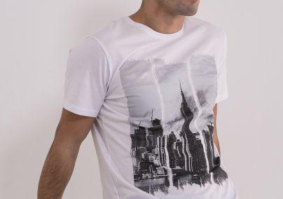 Muška majica sa printom grada
