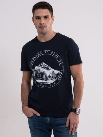 Teget majica sa printom