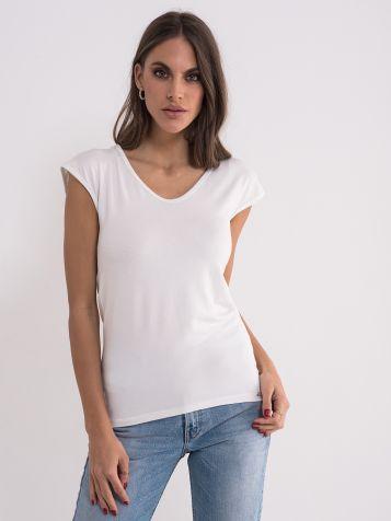 Jednobojna bijela majica