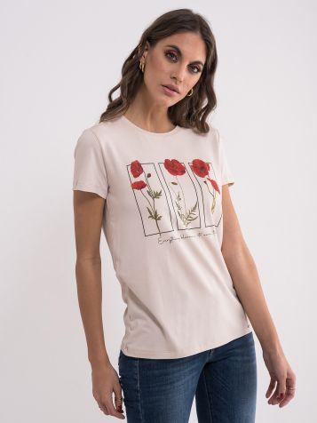 Ženska majica sa cvijetnim uzorkom