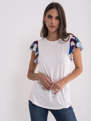Majica sa šarenim rukavima