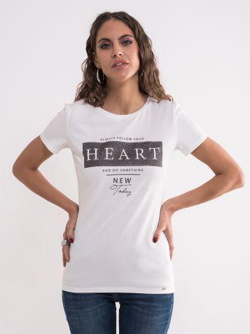 Majica sa sivo-srebrnim detaljima